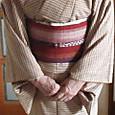 飯田紬に紬袋名古屋帯