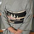織疋田に絵緯のお召に祭りの名古屋帯