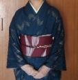 琉球紬に掬い名古屋帯